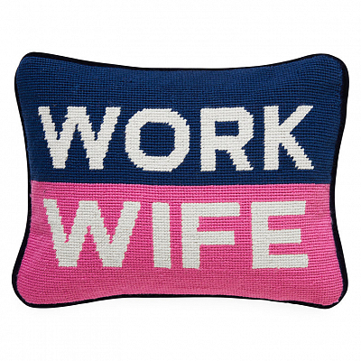 Подушка Work Wife Needlepoint